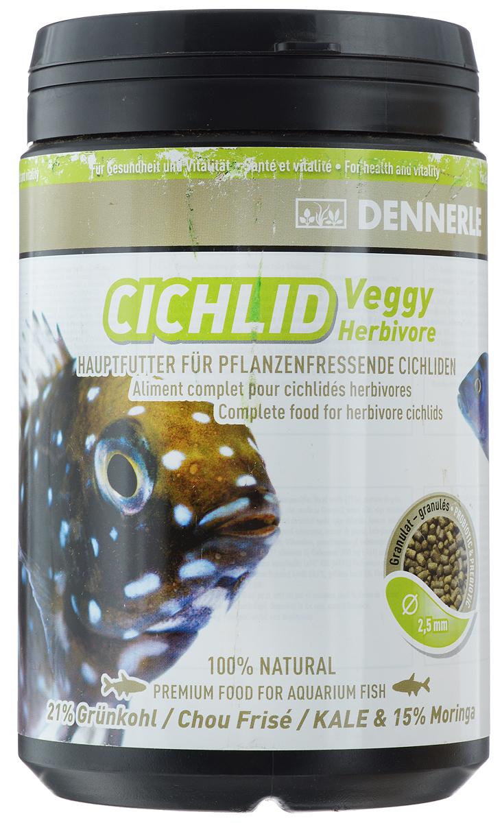 Корм Dennerle Cichlid Veggy, для растительноядных цихлид, 450 гDEN7517Корм Dennerle Cichlid Veggy разработан специально для цихлид, питающихся побегами растений, например, для трофеусов. Корм с высоким содержанием растительных ингредиентов. Благодаря содержанию богатых биологически активными веществами водорослей, таких как спирулина, хлорелла, нанохлоропсис и ламинария, а также красных известковых водорослей, богатых минералами и микроэлементами, рыбы получают питание аналогичное питанию в естественной среде обитания, насыщенное балластными веществами и клетчаткой.Состав: грюнколь (21%), пшеничный протеин, моринга масличная (15%), шпинат, дрожжевой экстракт, жир морских животных с омега-3 ПНЖК капуста белокочанная, спирулина платенсис, мелисса, чеснок, мокрица, экстракт зеленого губчатого моллюска, водоросли хлорелла, фенхель, анис, цветочная пыльца, порошок виноградных косточек, известковые красные водоросли, травяной экстракт, бета-глюканы.Аналитические компоненты: неочищенный протеин 33,7%, жир-сырец 8%, сырая клетчатка 5,6%, неочищенная зола 8,3%, влага 9,6%.Рекомендации по кормлению: 2-3 раза в день в количестве, которое рыбы смогут съесть в течение 1 минуты.Товар сертифицирован.