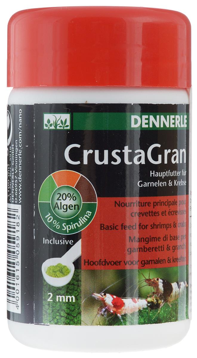 Корм Dennerle CrustaGran для креветок и мелких раков, 100 мл58067Гранулированный корм Dennerle CrustaGran предназначен для креветок и мелких раков. Это биологически сбалансированное питание. Корм изготовлен в виде гранул, которые не размокают в воде в течении 24 часов, не мутят воду.Состав: моллюски и ракообразные, водоросли (20 %, из них 10% спирулина), овощи, рыба и рыбные субпродукты, масла и жиры.Товар сертифицирован.