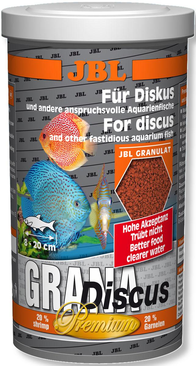 Корм для дискусов JBL Grana Discus, в форме гранул, 250 мл (110 г)JBL4052000Корм для дискусов JBL Grana Discus в форме гранул - полноценный корм, который обеспечивает оптимальный рост и яркую окраску. Корм питательный, легко переваривается и укрепляет иммунитет. Идеален для дискусов благодаря полуплавучим гранулам. Предназначен для рыб длиной 8-20 см. Корм подходит и для других разборчивых в питании аквариумных рыб, таких как маленькие пестрые окуни, скалярии и другие декоративные рыбы. Гранулы уходят под воду с различной скоростью, благодаря чему корм могут получать рыбы, находящиеся в различных слоях воды. Комбинация протеинов, жиров и углеводов, а также минералов и микроэлементов, подобранная специально под питательные потребности указанной группы рыб, поддерживает их рост. Корм не вызывает помутнения воды: сокращает рост водорослей благодаря правильному содержанию фосфатов, улучшает качество воды благодаря усвояемости, в результате снижается количество экскрементов рыб. Не содержит рыбной муки низкого качества, использована рыба от производства филе для людей.Рекомендации по кормлению: 1-2 раза в день давайте столько, сколько рыбы съедают за несколько минут. Молодым растущим рыбам давайте 3-4 раза в день тем же образом. Состав: моллюски и ракообразные, злаки, овощи, растительные побочные продукты, масла и жиры, рыба и рыбные побочные продукты. Анализ: протеин 46%, жир 6%, клетчатка 1,8%, зола 9,5%. Содержание витаминов в 1 кг: Витамин А 25000 I.E., Витамин D3 2000 I.E., Витамин Е 330 мг, Витамин C 400 мг. Товар сертифицирован.