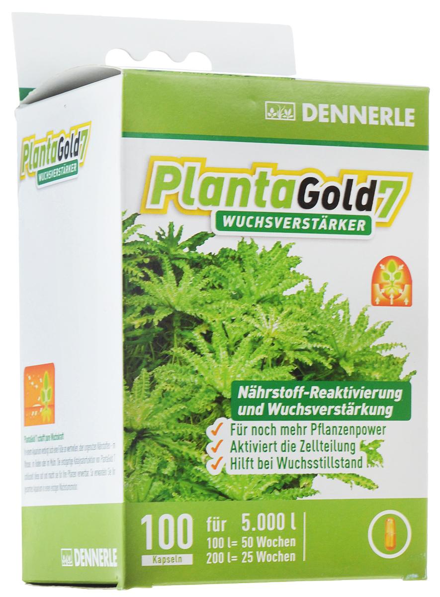 Удобрение для аквариумных растений Dennerle Planta Gold 7, стимулятор роста, в капсулах, 100 шт0120710Удобрение Dennerle Planta Gold 7 предназначено для активной стимуляции роста всех видов аквариумных растений. Натуральные биоэнзимы активируют деление клеток и, как следствие, стимулируют рост. Удобрение восстанавливает неиспользованные питательные вещества, делая их вновь доступными для растений. Planta Gold 7 эффективно помогает при замедлении роста.Дозировка: 1 капсула на 50 литров аквариумной воды раз в неделю.