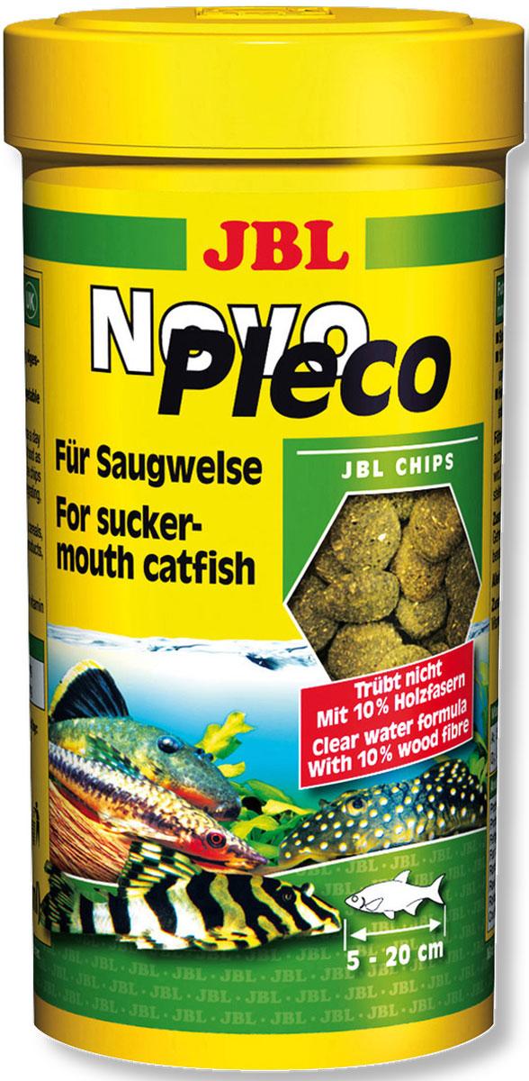 Корм JBL NovoPleco для кольчужных сомов, в форме чипсов, 250 мл (133 г)JBL3031100Корм JBL NovoPleco - это полноценный корм в виде чипсов для оптимального роста мелких и средних кольчужных сомов от 5 до 20 см, которые кормятся в нижних слоях воды. Корм содержит спирулину, растительные компоненты и питательные зародыши пшеницы. Благодаря древесным волокнам корм очень питательный и легко усваивается. Корм не вызывает помутнения воды и стабилен в воде, сокращает рост водорослей благодаря правильному содержанию фосфатов. Не содержит рыбной муки низкого качества, использована рыба от производства филе для людей. Рекомендации по кормлению: 2-3 раза в день давайте столько, сколько рыбы съедают за 30 минут. Несъеденный корм убирайте через час. Состав: растительные побочные продукты, овощи, злаки, моллюски и ракообразные, водоросли, рыба и рыбные побочные продукты, дрожжи. Анализ состава: белок 32%, жир 8%, клетчатка 13%, зола 10%. Добавки: Витамин А 25000 I. E., Витамин Е 330 mg, Витамин C (стабильный) 400 mg, Витамин D3 2000 I. E. Товар сертифицирован.