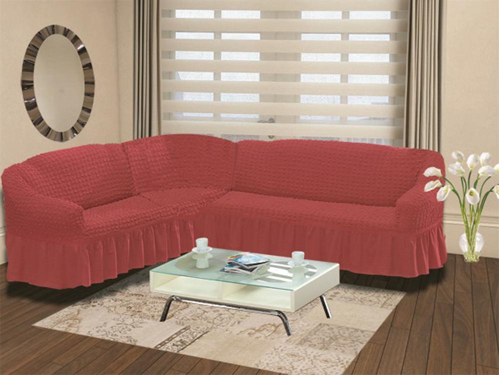 Чехол для дивана Burumcuk Bulsan, угловой, левосторонний, пятиместный, цвет: красный1907/CHAR006Чехол для дивана Burumcuk выполнен из высококачественного полиэстера и хлопка с красивым рельефом. Предназначен для углового дивана. Такой чехол изысканно дополнит интерьер вашего дома. Ширина посадочных мест короткой стороны: 140-190 см.Ширина посадочных мест длинной стороны: 210-260 см. Глубина посадочных мест: 70-80 см. Высота спинки от посадочного места: 70-80 см. Ширина подлокотников: 25-35 см. Высота юбки: 35 см. Тянется: + 30 см.