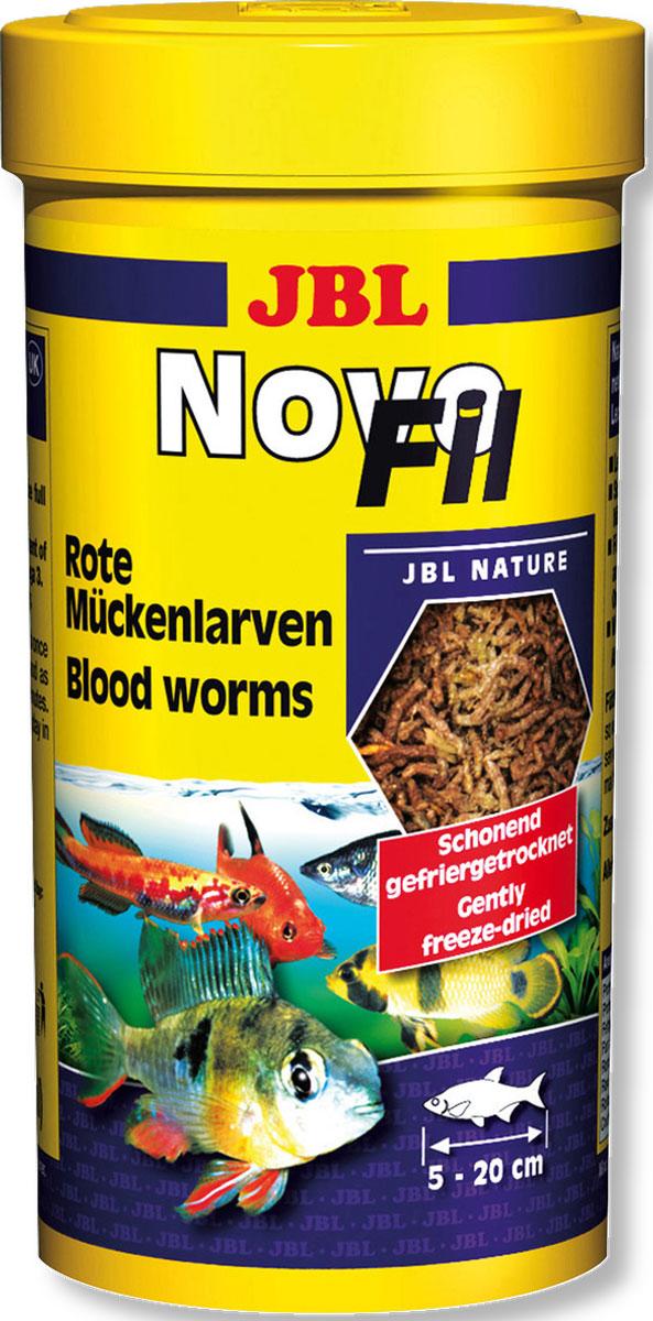 Корм JBL NovoFil для привередливых аквариумных рыб, 100 мл (8 г)JBL3026000Дополнительный корм JBL NovoFil представляет собой личинки красного комара, высушенные по технологии вакуумной заморозки. Отличная альтернатива живому и замороженному корму. Лакомство предназначено для водяных черепах и привередливых тропических пресноводных рыб от 5 до 20 см, кормящихся во всех слоях воды. Корм очень питательный и легко усваивается. В процессе вакуумной сублимационной сушки важные питательные вещества сохраняются в высушенном корме. Корм не вызывает помутнения воды, сокращает рост водорослей благодаря правильному содержанию фосфатов, улучшает качество воды, в результате хорошей усвояемости снижается количество экскрементов рыб.Рекомендации по кормлению: 1-2 раза в день давайте столько, сколько рыбы съедают за несколько минут. Состав: насекомые. Анализ состава: белок 55%, жир 13%, клетчатка 7%, зола 9%. Товар сертифицирован.