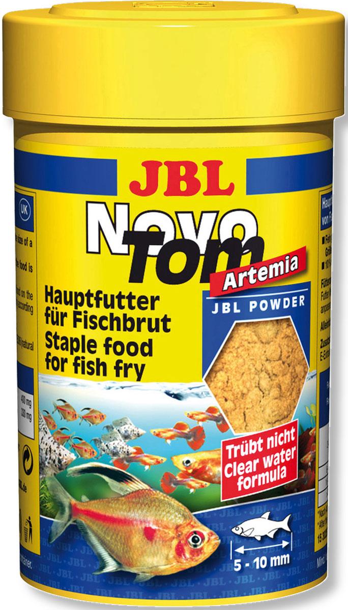 Корм JBL NovoTom Artemia для мальков живородящих рыб, с артемией, пылевидный, 100 мл (60 г)JBL3025300Корм JBL NovoTom Artemia предназначен для мальков живородящих аквариумных рыб размером 5-10 мм или крупных мальков икромечущих видов, кормящихся в среднем и верхнем слоях воды. Это полноценный корм для оптимального роста и яркой окраски рыб благодаря артемии. Питательный и легко усваивается. Состав идеального корма для мальков рыб зависит от многих факторов. Молодь растет и нуждается в необходимых питательных веществах для развития. Порошкообразный корм JBL состоит из измельченных ингредиентов с артемией и природным витамином Е. Корм не вызывает помутнения воды, сокращает рост водорослей благодаря правильному содержанию фосфатов, улучшает качество воды, в результате хорошей усвояемости снижается количество экскрементов. Не содержит рыбной муки низкого качества, использована рыба от производства филе для людей. Состав: рыба и рыбные побочные продукты, злаки, моллюски и ракообразные, растительные побочные продукты, овощи, дрожжи, яйца и продукты из яиц, водоросли. Анализ состава: белок 43%, жир 8,5%, клетчатка 1,9%, зола 9%. Товар сертифицирован.