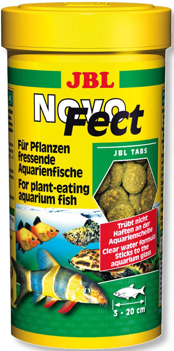 Корм JBL NovoFect для растительноядных рыб, в таблетках, 100 мл (58 г)JBL3024700Корм JBL NovoFect - это полноценный корм для оптимального роста растительноядных пресноводных рыб и креветок. Идеально подходит для рыб от 3 до 20 см, обитающих во всех слоях воды. Корм питательный и легко усваивается. Не вызывает помутнения воды, сокращает рост водорослей благодаря правильному содержанию фосфатов, улучшает качество воды, в результате хорошей усвояемости снижается количество экскрементов рыб. Не содержит рыбной муки низкого качества, использована рыба от производства филе для людей. Рекомендации по кормлению: Таблетка крепится к стеклу аквариума, и за рыбками можно наблюдать при кормлении. 1-2 раза в день давайте столько, сколько рыбы съедают за несколько минут. Молодых растущих рыб кормите 3-4 раза в день таким же образом. Состав: растительные побочные продукты, злаки, водоросли, рыба и рыбные побочные продукты, овощи, моллюски и ракообразные, экстракты растительного белка, дрожжи. Анализ состава: белок 35%, жир 5%, клетчатка 5%, зола 8%. Товар сертифицирован.