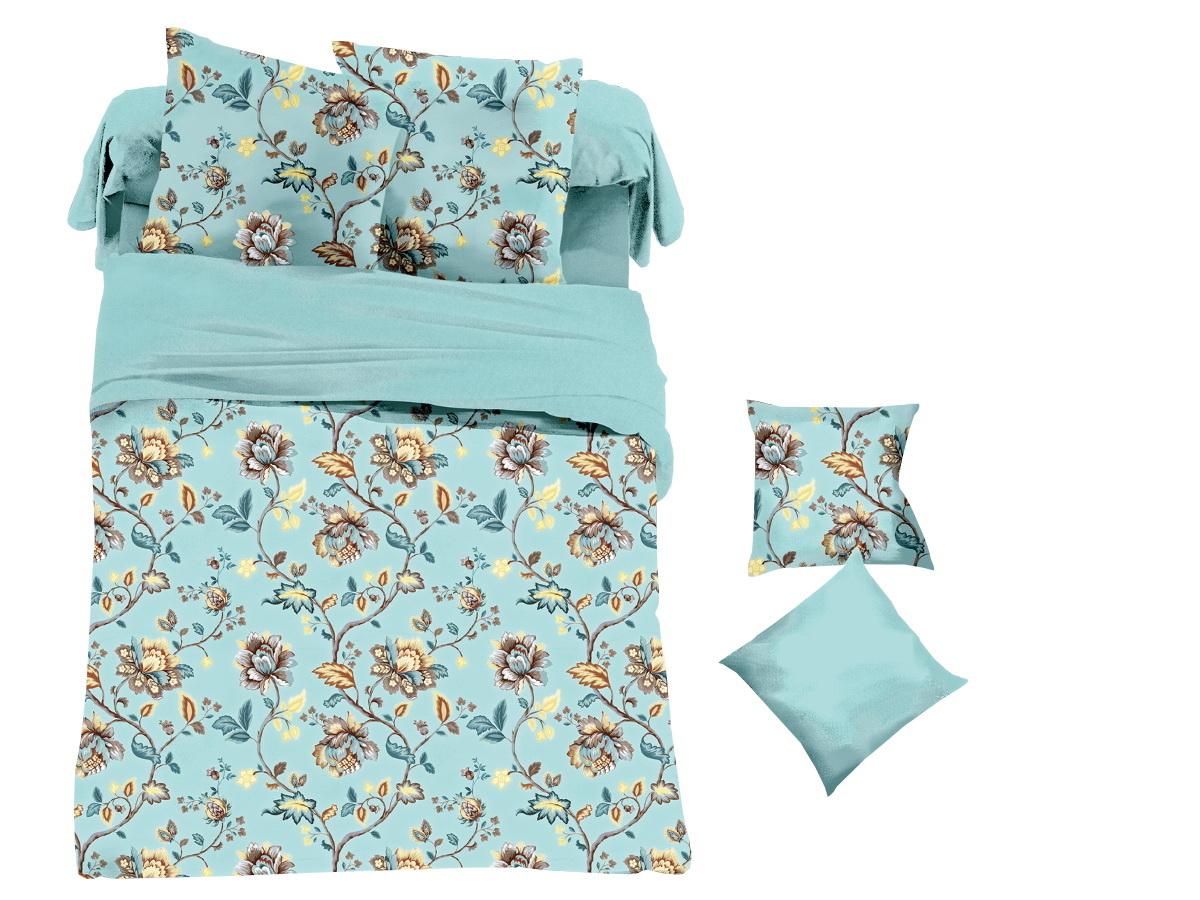 Комплект белья Cleo Цветочная бирюза, 1,5-спальный, наволочки 70х70391602Коллекция постельного белья из микросатина CLEO – совершенство экономии, но не на качестве! Благодаря новейшим технологиям микросатин – это прочность, легкость, простота в уходе, всегда яркие цвета после стирки. Микро-сатин набирает все большую популярность, благодаря своим уникальным характеристикам. Окраска материала - стойкая, цветовая палитра - яркая, насыщенная. Микро-сатин хорошо впитывает влагу, а после стирки быстро сохнет, становясь шелковистым на ощупь, мягким и воздушным. Комплект состоит из пододеяльника, двух наволочек и простыни.
