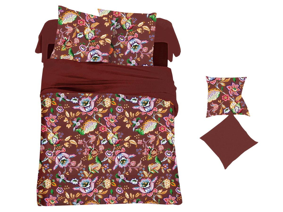 Комплект белья Cleo Цветочный бордо, 2-спальный, наволочки 70х70RC-100BWCКоллекция постельного белья из микросатина CLEO – совершенство экономии, но не на качестве! Благодаря новейшим технологиям микросатин – это прочность, легкость, простота в уходе, всегда яркие цвета после стирки. Микро-сатин набирает все большую популярность, благодаря своим уникальным характеристикам. Окраска материала - стойкая, цветовая палитра - яркая, насыщенная. Микро-сатин хорошо впитывает влагу, а после стирки быстро сохнет, становясь шелковистым на ощупь, мягким и воздушным. Комплект состоит из пододеяльника, двух наволочек и простыни.