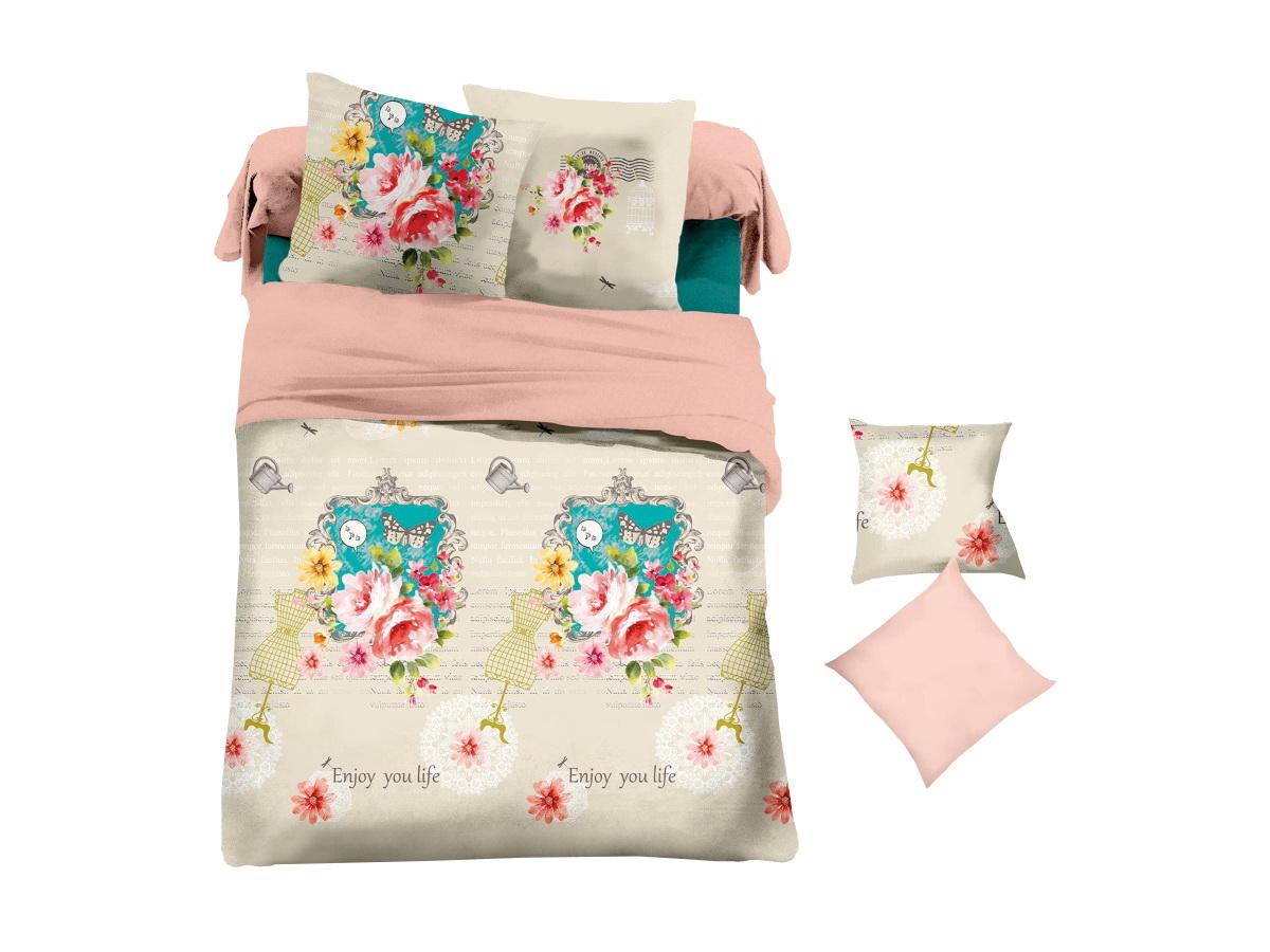 Комплект белья Cleo Арт-Постель, 2-спальный, наволочки 70х70391602Коллекция постельного белья из микросатина CLEO – совершенство экономии, но не на качестве! Благодаря новейшим технологиям микросатин – это прочность, легкость, простота в уходе, всегда яркие цвета после стирки. Микро-сатин набирает все большую популярность, благодаря своим уникальным характеристикам. Окраска материала - стойкая, цветовая палитра - яркая, насыщенная. Микро-сатин хорошо впитывает влагу, а после стирки быстро сохнет, становясь шелковистым на ощупь, мягким и воздушным. Комплект состоит из пододеяльника, двух наволочек и простыни.