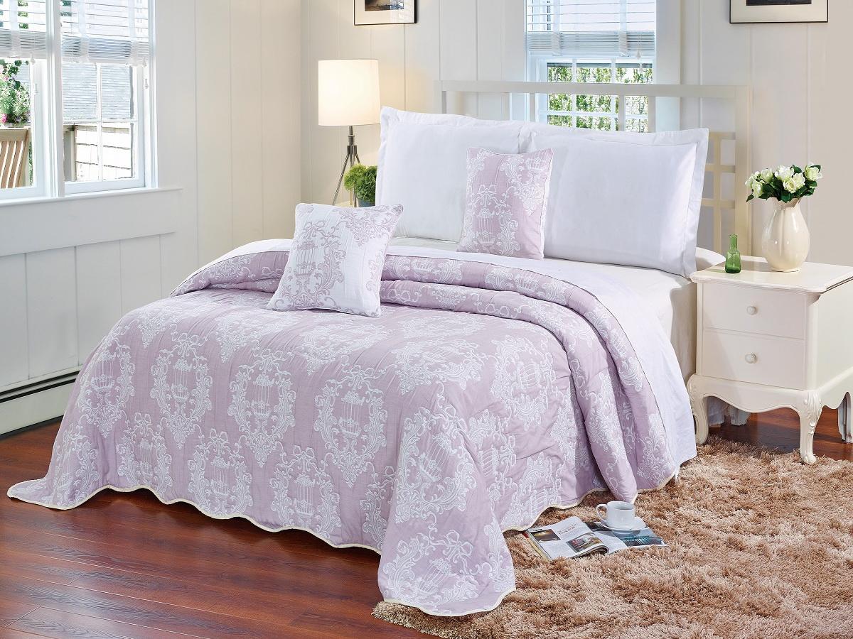 Покрывало Cleo Грация, цвет: розовый, 160 х 220 см290/001(1)-16-BRКрасивые, яркие, легкие и в меру объемные покрывала - они становятся настоящим украшением, завершающим штрихом интерьера, который преображает помещение, делая его уютным и комфортным.Состав этой коллекции - 100% хлопок. Это необыкновенно прочная, практичная, устойчивая к разнообразным воздействиям ткань. Рисунок, выполненный методом тиснения, сохраняет краски в течение долгого времени. Такое покрывало прослужит много лет, радуя вас и ваших близких изначальной яркостью своих красок.