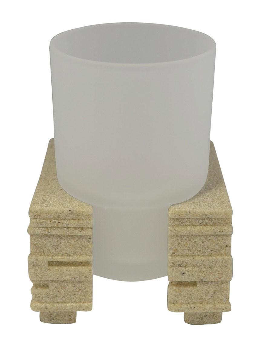 Стакан для ванной комнаты Ridder Brick, цвет: бежевый68/5/1Изделия данной серии устойчивы к ультрафиолету, т.к. изготавливаются из полирезины. Экологичная полирезина - это твердый многокомпонентный материал на основе синтетической смолы,с добавлением каменной крошки и красящих пигментов.Съемный стаканчик из матового стекла наподставке украсит ваш интерьер.