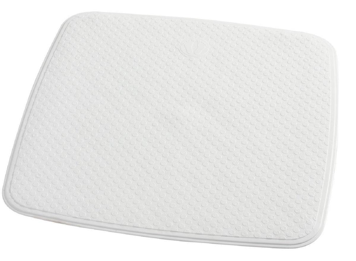 Коврик для ванной Ridder Capri, противоскользящий, на присосках, цвет: белый, 54 х 54 см66281Коврик для ванной Ridder Capri, изготовленный из каучука с защитой от плесени и грибка, создает комфортное антискользящее покрытие в ванне. Изделие удобно в использовании и легко моется теплой водой.