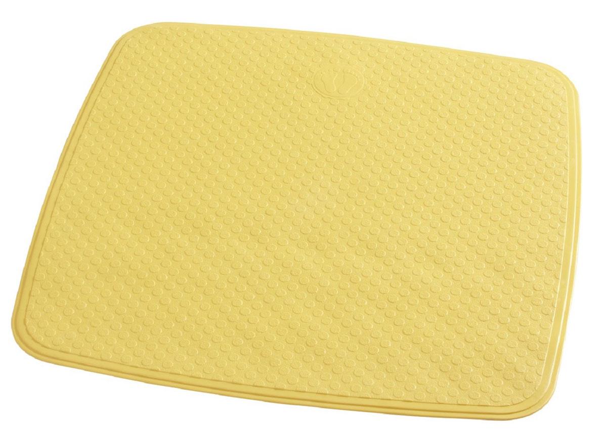 Коврик для ванной Ridder Capri, противоскользящий, на присосках, цвет: желтый, 54 х 54 смRG-D31SКоврик для ванной Ridder Capri, изготовленный из каучука с защитой от плесени и грибка, создает комфортное антискользящее покрытие в ванне. Крепится к поверхности при помощи присосок. Изделие удобно в использовании и легко моется теплой водой.