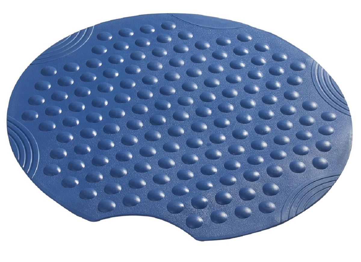 Коврик для ванной Ridder Tecno, противоскользящий, на присосках, цвет: синий, диаметр 55 см391602Высококачественные немецкие коврики Tecno созданы для вашего удобства. Состав и свойства противоскользящих ковриков: синтетический каучук с защитой от плесени и грибка, не содержит ПВХ. Имеются присоски для крепления. Безопасность изделия соответствует стандартам LGA (Германия).