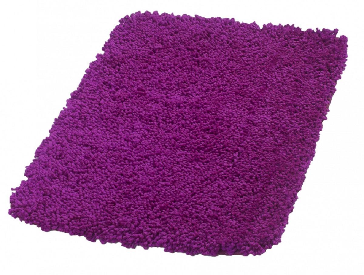 Коврик для ванной Ridder Softy, цвет: фиолетовый, 50 х 75 см531-105Высококачественный немецкий коврик Softy - подарок для ваших ножек. Изготовлен из 100 % микрополиэстера. Высота ворса - 40 мм. Стирать при щадящем режиме 30°С. Можно сушить в сушильной машине. Не подвергать химической чистке. Не гладить
