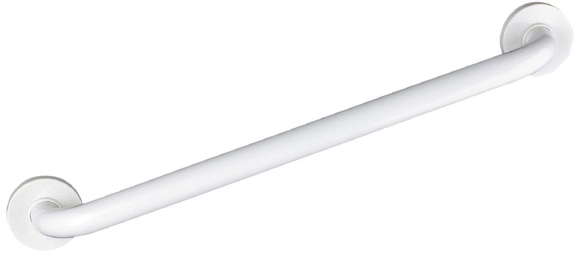 Поручень для ванной Ridder, цвет: белый, длина 60 см. А00160101531-105Высококачественный немецкий поручень выполнен из алюминия. Закругленные края ручки и ее оптимальная длина сделаны для минимизации травмоопасности. Длина поручня - 60 см. Максимальная нагрузка на поручень - 110 кг. Комплект: 1 поручень 6 шурупов + дюбели 1 инструкция