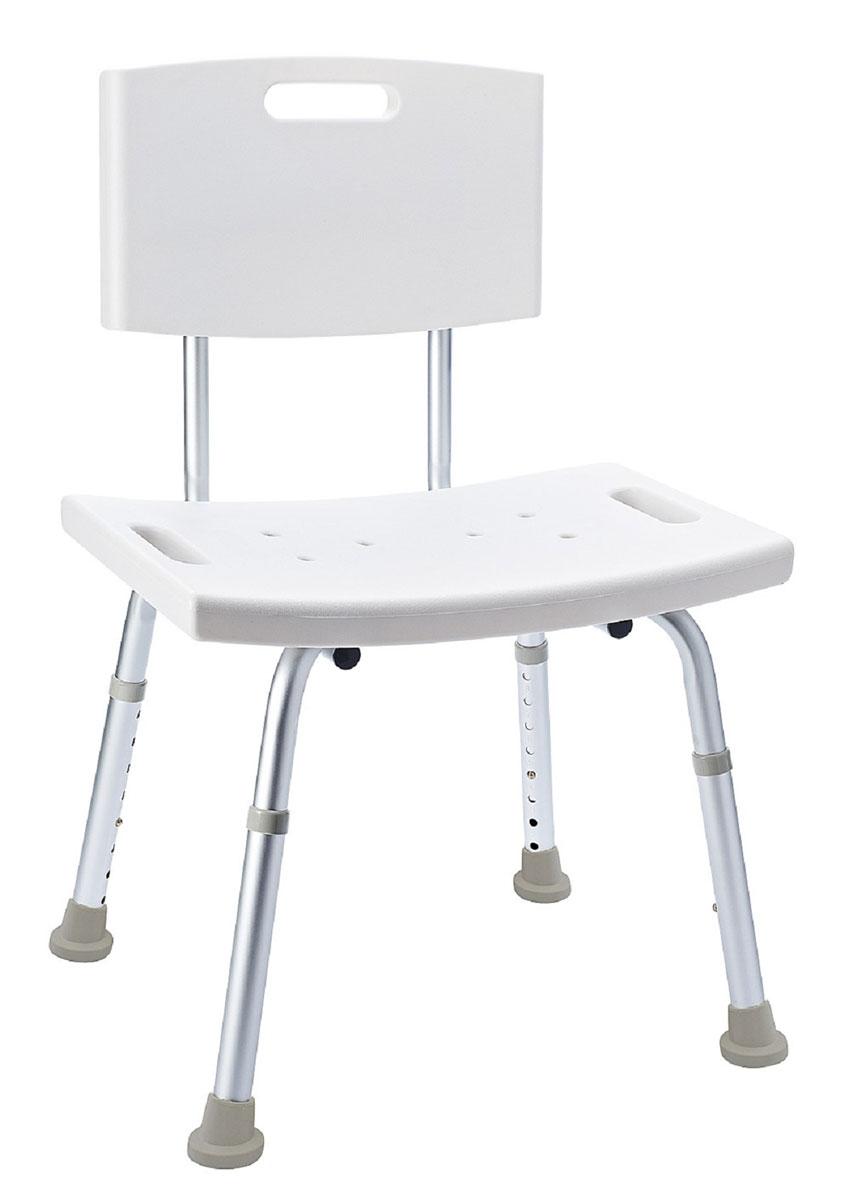 Стул в ванную Ridder, с регулируемой высотой, цвет: белый, хром. А0060210112723Стул в ванную Ridder с регулируемой высотой станет идеальным помощником при создании комфорта и безопасности в ванной для пожилых людей и лиц с ограниченными возможностями. Стул выполнен из анодированного алюминия и пластика. Не содержит токсичных веществ. Изделие имеет вентилирующую поверхность, а в посадочной части и на спинке расположены углубления для удобной переноски.Безопасность изделия соответствует стандартам LGA (Германия).Размер посадочной части: 49 х 29,5 см.Высота табурета: 34-52 см.Максимальная нагрузка: 100 кг.