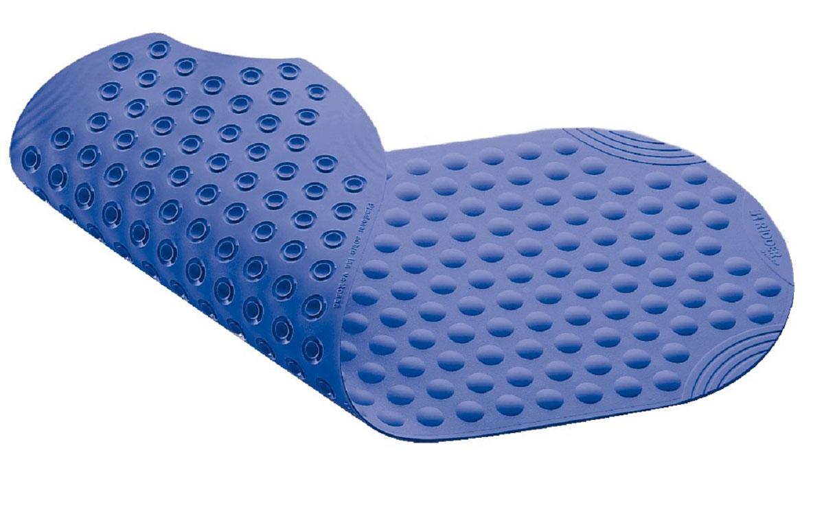 Коврик для ванной Ridder Tecno+, противоскользящий, на присосках, цвет: синий, 38 х 89 см531-105Высококачественные немецкие коврики Tecno+ созданы для вашего удобства. Состав и свойства противоскользящих ковриков: синтетический каучук с защитой от плесени и грибка, не содержит ПВХ. Имеются присоски для крепления. Безопасность изделия соответствует стандартам LGA (Германия).
