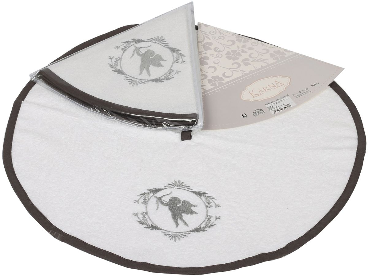 Салфетка кухонная Karna Bella, диаметр 50 см. 505/CHAR0013121050160Кухонная салфетка Karna Bella выполнена из 100% хлопка и украшена оригинальным рисунком. Изделие отлично впитывает влагу, быстро сохнет, сохраняет яркость цвета и не теряет форму даже после многократных стирок. Салфетка очень практична и неприхотлива в уходе. Она создаст прекрасное настроение и украсит интерьер вашей кухни.Диаметр салфетки: 50 см.