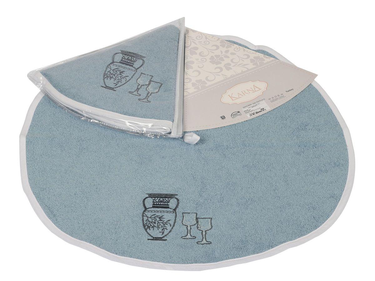 Салфетка кухонная Karna Bella, диаметр 50 см. 505/CHAR002S03301004Кухонная салфетка Karna Bella выполнена из 100% хлопка и украшена оригинальным рисунком. Изделие отлично впитывает влагу, быстро сохнет, сохраняет яркость цвета и не теряет форму даже после многократных стирок. Салфетка очень практична и неприхотлива в уходе. Она создаст прекрасное настроение и украсит интерьер вашей кухни.Диаметр салфетки: 50 см.