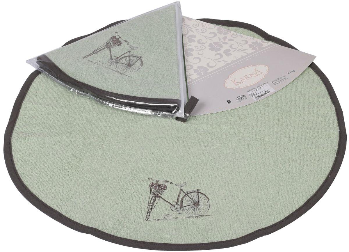 Салфетка кухонная Karna Bella, диаметр 50 см. 505/CHAR0033121594140Кухонная салфетка Karna Bella выполнена из 100% хлопка и украшена оригинальным рисунком. Изделие отлично впитывает влагу, быстро сохнет, сохраняет яркость цвета и не теряет форму даже после многократных стирок. Салфетка очень практична и неприхотлива в уходе. Она создаст прекрасное настроение и украсит интерьер вашей кухни.Диаметр салфетки: 50 см.