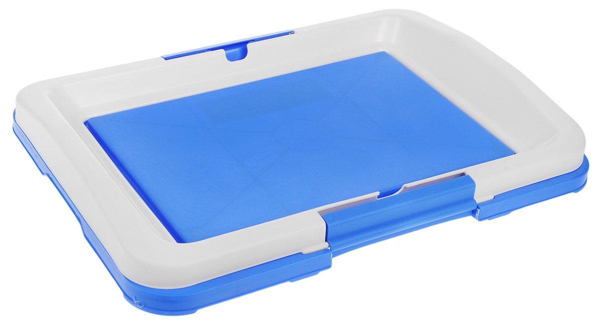 Туалет для собак V.I.Pet Японский стиль, цвет: синий, молочный, 48 х 35 х 5 см226Туалет для собак V.I.Pet Японский стиль, изготовленный из нетоксичного пластика, предназначен для собак и щенков. Гигиеническая пеленка помещается под решетку, которая удерживается боковыми фиксаторами. Туалет легко моется водой.Уважаемые клиенты!Рекомендуется использовать с пеленкой V.I.Pet 40 см х 60 см.Гигиеническая пеленка в комплект не входит.