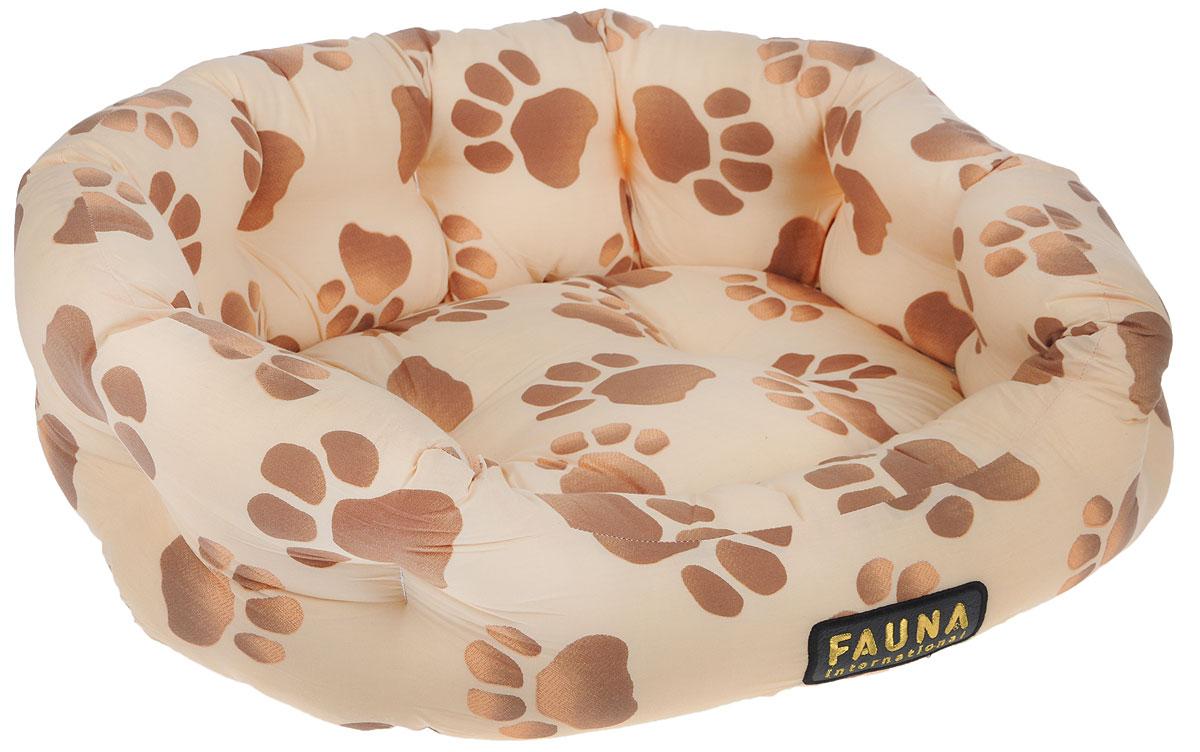 Лежак для животных FAUNA Fantasia, цвет: бежевый, коричневый, 62 х 50 х 150120710Уютный лежак для животных FAUNA Fantasia обязательно понравится вашему питомцу. В нем питомец будет счастлив, так как лежак очень мягкий и приятный. Он будет проводить все свое свободное время в нем, отдыхать, наслаждаясь удобством. Лежак выполнен из хлопка, также имеется подушка, которая легко вынимается и ее можно использовать отдельно.