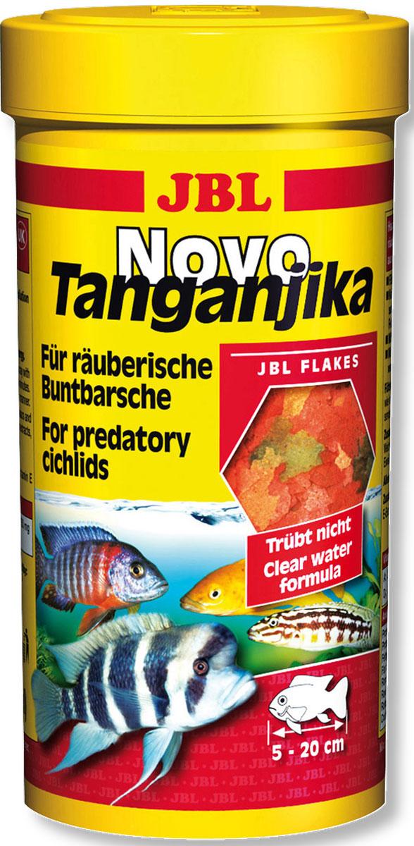 Корм JBL NovoTanganjika для хищных цихлид из озер Малави и Танганьика, в форме хлопьев, 250 мл (45 г)0120710Корм JBL NovoTanganjika - это полноценный корм для оптимального роста и яркой окраски хищных цихлид из озер Танганьика и Малави. Корм идеален для рыб от 5 до 20 см, кормящихся в верхнем и среднем слоях воды. Питательный и легко усваивается. Содержит преимущественно рыбу и планктон, каротиноиды в составе корма обеспечивают яркий цвет. Корм не вызывает помутнения воды, сокращает рост водорослей благодаря правильному содержанию фосфатов, улучшает качество воды, в результате хорошей усвояемости снижается количество экскрементов. Не содержит рыбной муки низкого качества, использована рыба от производства филе для людей. Рекомендации по кормлению: 1-2 раза в день давайте столько, сколько питомцы съедают за несколько минут. Молодых растущих рыбок кормите 3-4 раза в день тем же способом. Состав: рыба и рыбные побочные продукты, злаки, моллюски и ракообразные, растительные побочные продукты, экстракты растительного белка, овощи, дрожжи, яйца и продукты из яиц, водоросли. Анализ состава: белок 43%, жир 8,3%, клетчатка 1,5%, зола 8%. Товар сертифицирован.
