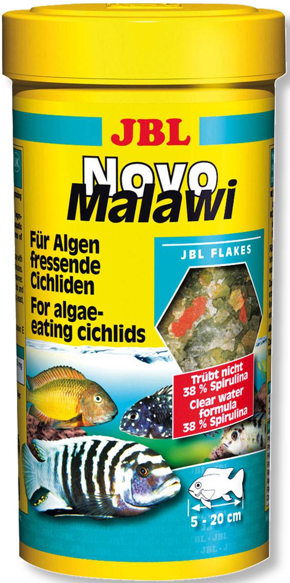 JBL NovoMalawi Корм в форме хлопьев для растительноядных цихлид из озер Малави и Таньгаика, 250 мл (38 г)0120710JBL NovoMalawi - Корм в форме хлопьев для растительноядных цихлид из озер Малави и Таньгаика, 250 мл. (38 г.)