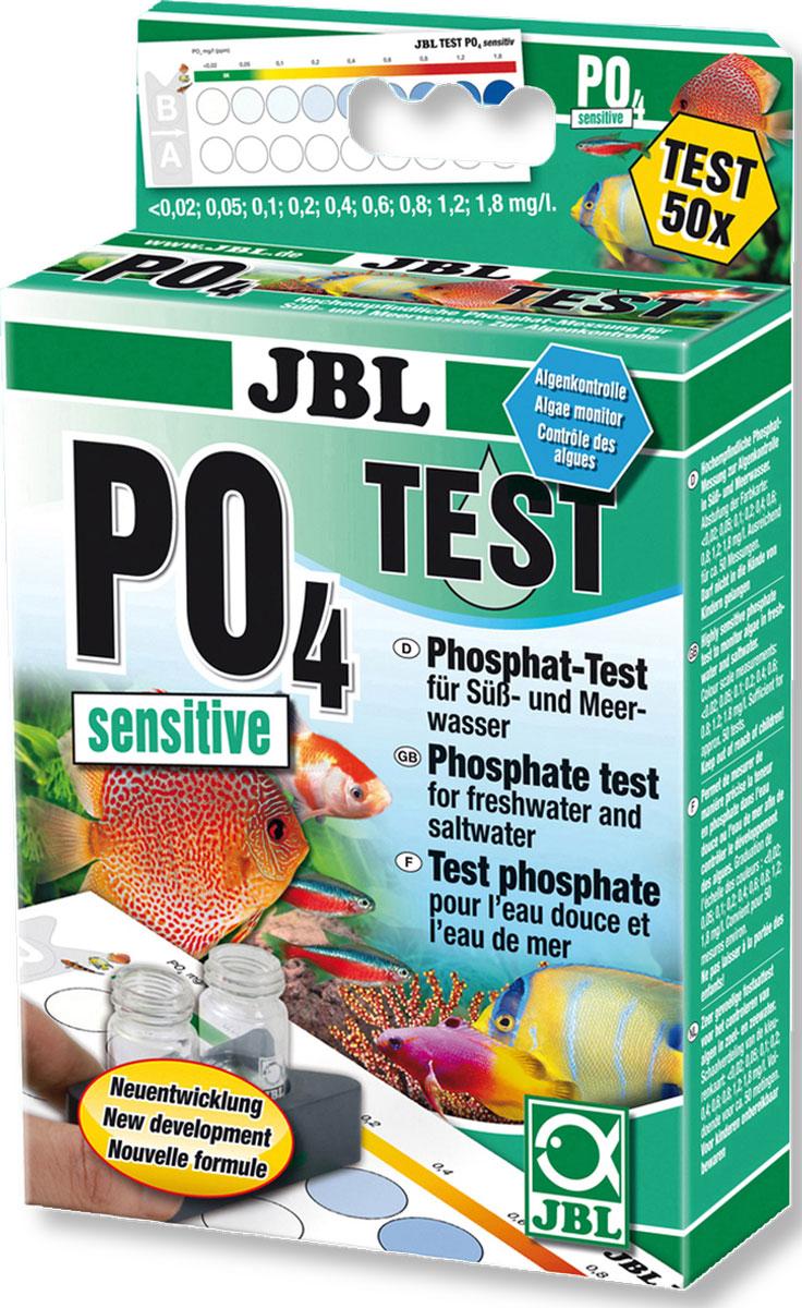 Высокочувствительный тест JBL Phosphat Test-Set PO4 sensitiv для определения содержания фосфатов в пресной и морской воде на 50 измерений0120710JBL Phosphat Test-Set PO4 sensitiv - Высокочувствительный тест для определения содержания фосфатов в пресной и морской воде на 50 измерений