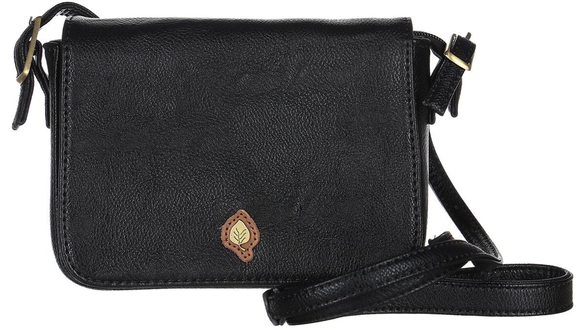 Сумка женская Janes Story, цвет: черный. D683-04KV996OPY/MСтильная женская сумка Janes Story выполнена из искусственной кожи. Модель состоит из одного основного отделения, закрывается с помощью застежки-молнии и клапана на магнитном замке. Внутри расположен накладной открытый карман и прорезной карман на застежке-молнии. Изделие оснащено плечевым ремнем регулируемой длины. Спереди модель украшена металлической фурнитурой. Оригинальный аксессуар позволит вам завершить образ и быть неотразимой.