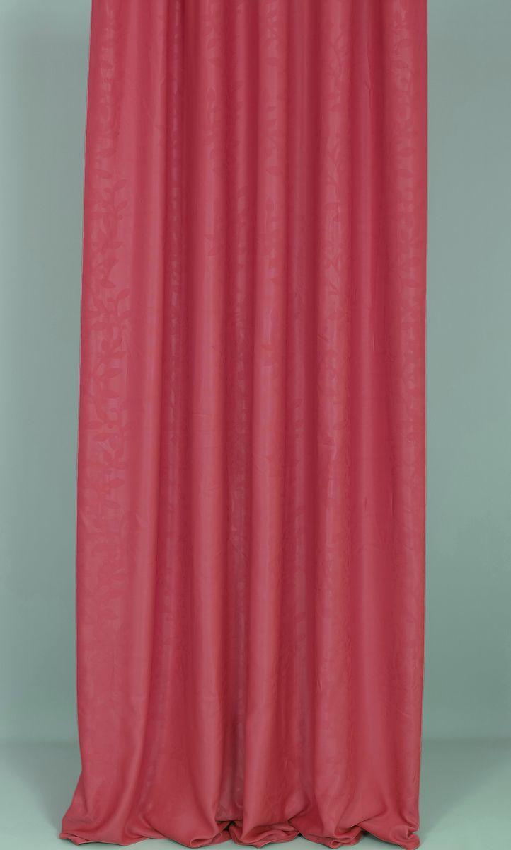 Штора Garden, на ленте, цвет: бордовый, высота 270 см. 83381PANTERA SPX-2RSГотовая штора Garden - это роскошная портьера для яркого и стильного оформления окон и создания особенной уютной атмосферы. Она великолепно смотрится как одна, так и в паре, в комбинации с нежной тюлевой занавеской, собранная на подхваты и свободно ниспадающая естественными складками.Такая штора, изготовленная полностью из прочного и очень практичного полиэстера, долговечна и не боится стирок, не сминается, не теряет своего блеска и яркости красок.