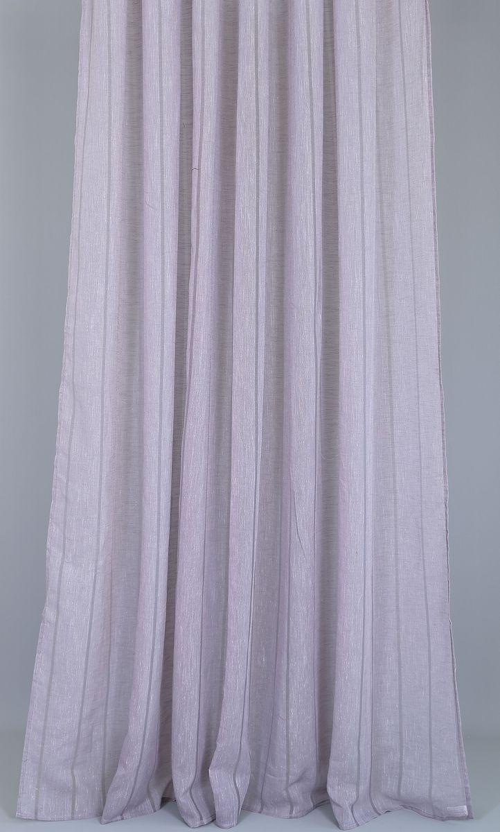 Тюль Garden Линиа, на ленте, цвет: сиреневый, высота 260 смP308-8793/1Тюль Garden изготовлен из 100% полиэстера. Оригинальная ткань привлечет к себе внимание и идеально оформит интерьер любого помещения. Полиэстер - вид ткани, состоящий из полиэфирных волокон. Ткани из полиэстера легкие, прочные и износостойкие. Такие изделия не требуют специального ухода, не пылятся и почти не мнутся.Крепление к карнизу осуществляется при помощи вшитой шторной ленты.
