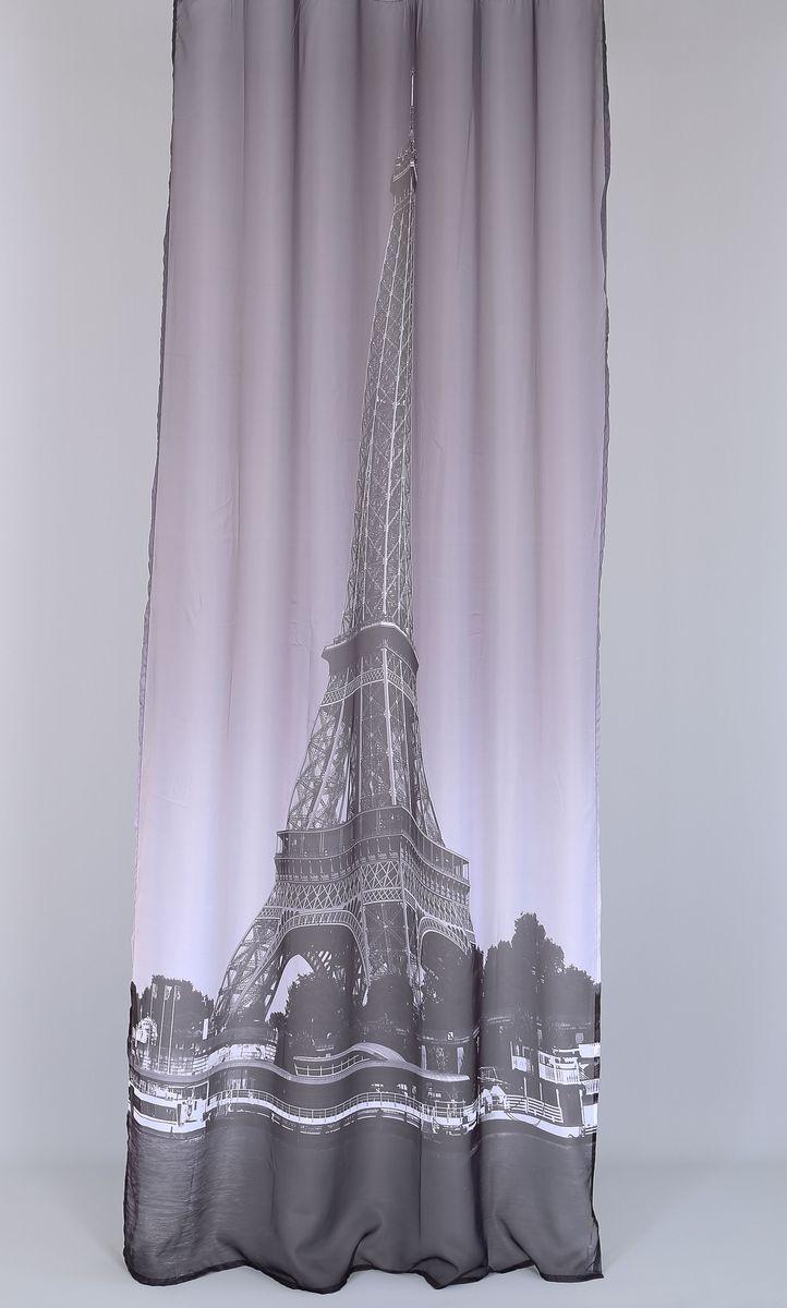 Тюль Garden Эйфелева башня, на ленте, высота 260 смGC013/00Тюль Garden Эйфелева башня выполнен из 100% полиэстера и украшен изображением Эйфелевой башни. Оригинальная текстура ткани и изящный дизайн привлекут к себе внимание и позволят органично вписаться в интерьер помещения. Тюль крепится на карниз при помощи ленты, которая поможет красиво и равномерно задрапировать верх. Этот тюль будет долгое время радовать вас и вашу семью.