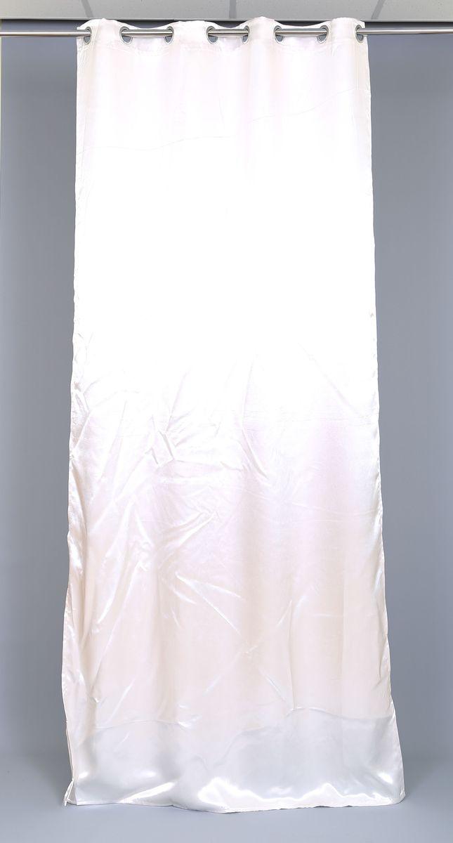 Штора Garden, на люверсах, цвет: белый, высота 270 см. 60245_ЛЮВЕРСЫ956251325Готовая штора Garden - это роскошный элемент для яркого и стильного оформления окон и создания особенной уютной атмосферы. Она великолепно смотрится как одна, так и в паре, в комбинации с нежной тюлевой занавеской, собранная на подхваты и свободно ниспадающая естественными складками. Такая штора, изготовленная полностью из прочного и очень практичного полиэстера, долговечна и не боится стирок, не сминается, не теряет своего блеска и яркости красок. Изделие оснащено люверсами и подойдет для декоративного круглого карниза.