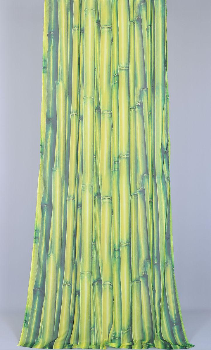 Тюль Garden Li-Bamboo, на ленте, высота 270 смSVC-300Тюль Garden Li-Bamboo изготовлен из 100% полиэстера. Воздушная ткань привлечет к себе внимание и идеально оформит интерьер любого помещения. Полиэстер - вид ткани, состоящий из полиэфирных волокон. Ткани из полиэстера легкие, прочные и износостойкие. Такие изделия не требуют специального ухода, не пылятся и почти не мнутся.Крепление к карнизу осуществляется при помощи вшитой шторной ленты.