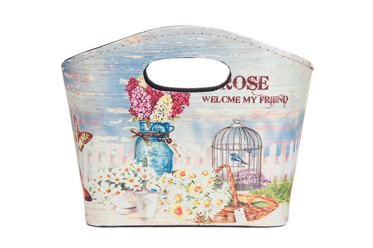 Сумка для хранения El Casa Сирень и ромашки, 20 х 11 х 16 см el casa сумка холодильник цветы на розовом