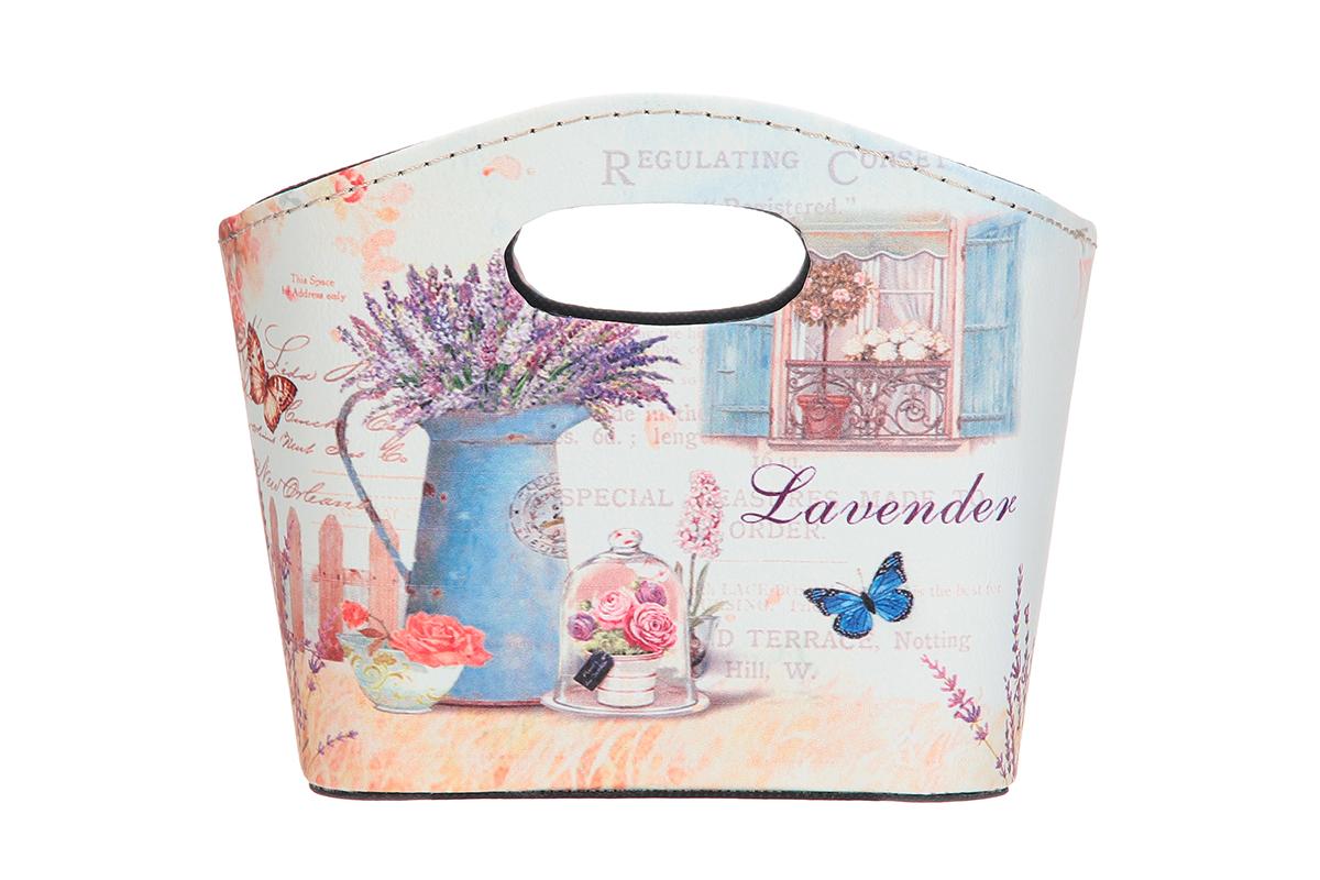 Сумка для хранения El Casa Лаванда, 20 х 11 х 16 смRG-D31SИнтерьерная сумка El Casa Лаванда, выполненная в винтажном стиле, будто специально предназначена для хранения любовных писем и любых других дорогих сердцу вещей. Благодаря прекрасному дизайну и необычной форме будет отлично смотреться в вашей гостиной или коридоре.Сумка El Casa Лаванда станет отличным подарком для ваших друзей и близких.