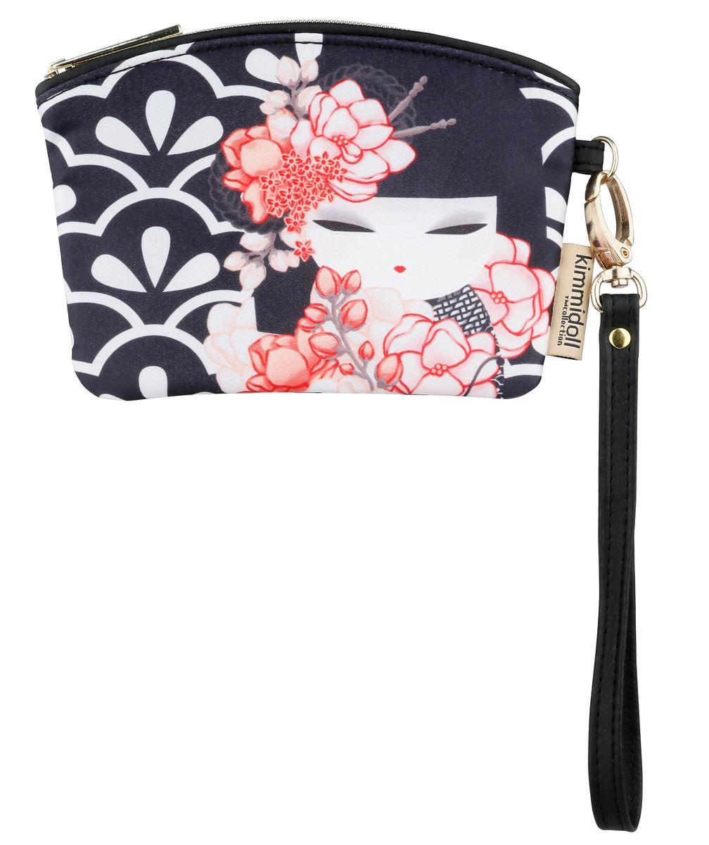 Кошелек женский Kimmidoll, цвет: темно-синий, белый. KF1099INT-06501Элегантный женский кошелек Kimmidoll выполнен из высококачественной искусственной кожи и оформлен изображением японской куколки-талисмана в кимоно.Кошелек застегивается на застежку-молнию и имеет одно отделение. Модель дополнена съемным ремешком на запястье.Этот необычный аксессуар имеет несколько функций, его можно использовать как мини-кошелек, кардхолдер и ключницу. Оригинальный и стильный кошелек понравится всем любителям необычного.