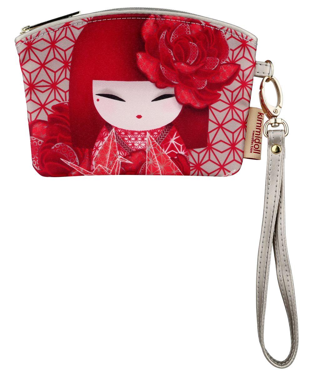 Кошелек женский Kimmidoll, цвет: красный. KF1100INT-06501Элегантный женский кошелек Kimmidoll выполнен из высококачественной искусственной кожи и оформлен изображением японской куколки-талисмана в кимоно.Кошелек застегивается на застежку-молнию и имеет одно отделение. Модель дополнена съемным ремешком на запястье.Этот необычный аксессуар имеет несколько функций, его можно использовать как мини-кошелек, кардхолдер и ключницу. Оригинальный и стильный кошелек понравится всем любителям необычного.