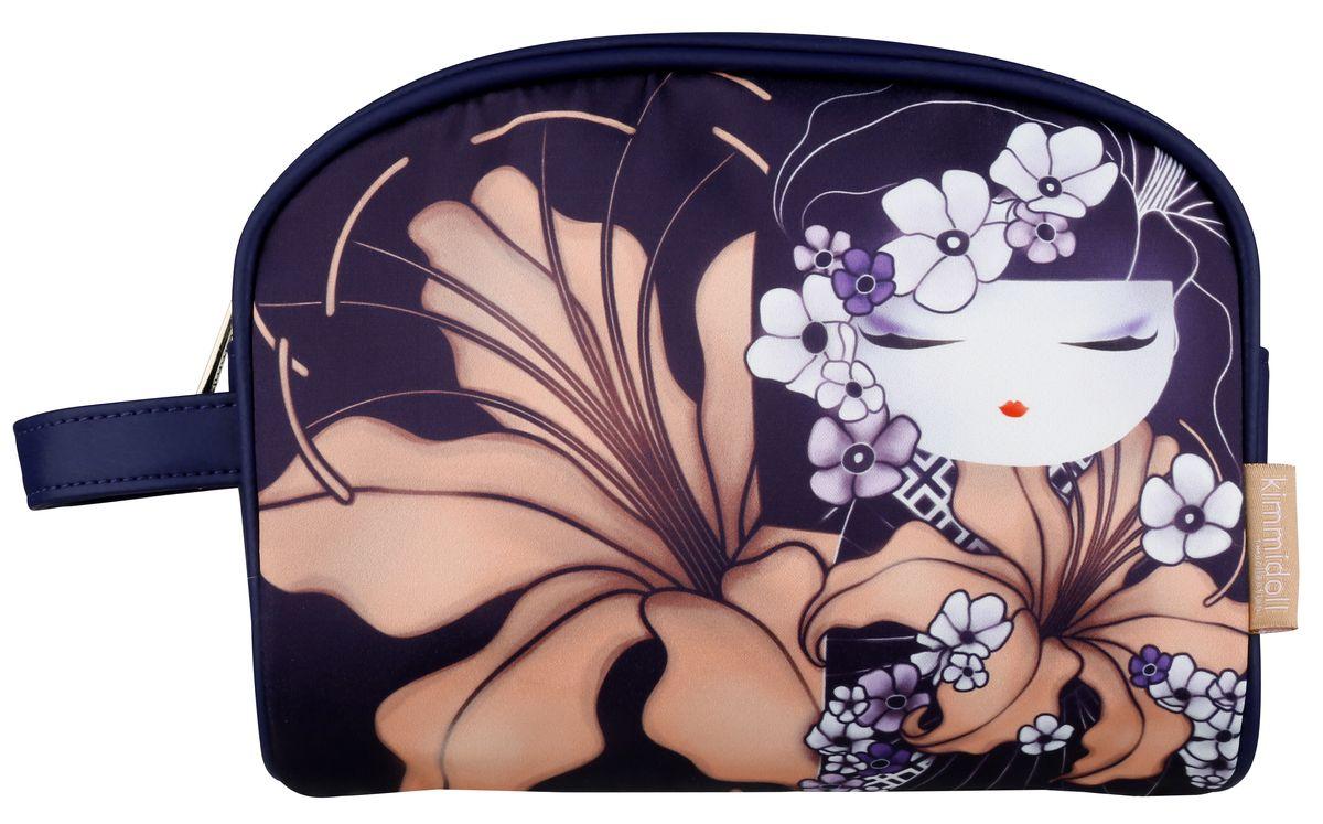 Косметичка женская Kimmidoll, цвет: темно-фиолетовый. KF1102B16-11416Косметичка Kimmidoll, выполненная из искусственной кожи и сатина в традиционном японском стиле, придется по душе всем ценителям стильных вещиц. Она отлично подойдет для хранения косметики и нужных вещей. Изделие содержит одно отделение, закрывающееся на застежку-молнию. Тыльная сторона оформлена металлической пластиной с гравировкой Kimmidoll Collection. Косметичку можно использовать как пенал или дорожную аптечку.