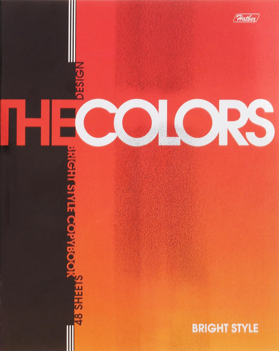 Hatber Тетрадь The Colors 48 листов в клетку цвет оранжевый72523WDТетрадь Hatber из серии The Colors отлично подойдет для занятий школьнику, студенту или для различных записей.Обложка, выполненная из плотного металлизированного картона украшена изображением английских букв.Внутренний блок тетради, соединенный металлическими скрепками, состоит из 48 листов белой бумаги в голубую клетку с полями.