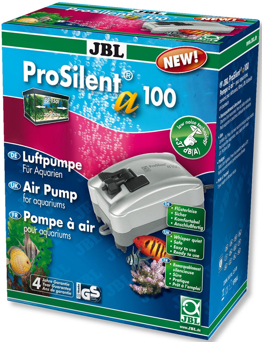 Компрессор JBL ProSilent, для аквариума 40-150 л, 100 л/ч0120710Компрессор JBL ProSilent предназначен для пресноводного и морского аквариума объемом 40-150 л. При производительности 100 л/ч и потреблении всего 3 Вт он мощный и надежный благодаря креплениям воздушного шланга. Пониженный уровень шума: звукопоглощающая воздушная камера, антивибрационные силиконовые ножки, усиленные стенки корпуса, регулируемый выход воздуха, крепление шланга поворачивается на 90°.Устройство оборудовано обратным клапаном для предотвращения обратного потока воды в насос. Ночью компрессор полезен для аквариума, потому что растения не производят кислород без света. В аквариумах с небольшим количеством растений насос обеспечивает адекватную циркуляцию воды. В аквариумах с плотной посадкой растений компрессор ночью подает кислород в аквариум, так как содержание кислорода значительно падает из-за большого количества растений. При заболеваниях компрессор повышает содержание кислорода в воде, что необходимо для многих лекарств. Просто установить: Подключите шланг к компрессору. Отрежьте шланг для подачи воздуха и установите обратный клапан. Обрежьте оставшийся шланг до нужной длины. Один конец соедините с обратным клапаном, а другой - с распылителем воздуха. Насос можно установить на сухой стене возле аквариума. Есть крючки для подвешивания. Отрегулируйте поток воздуха на выходе.