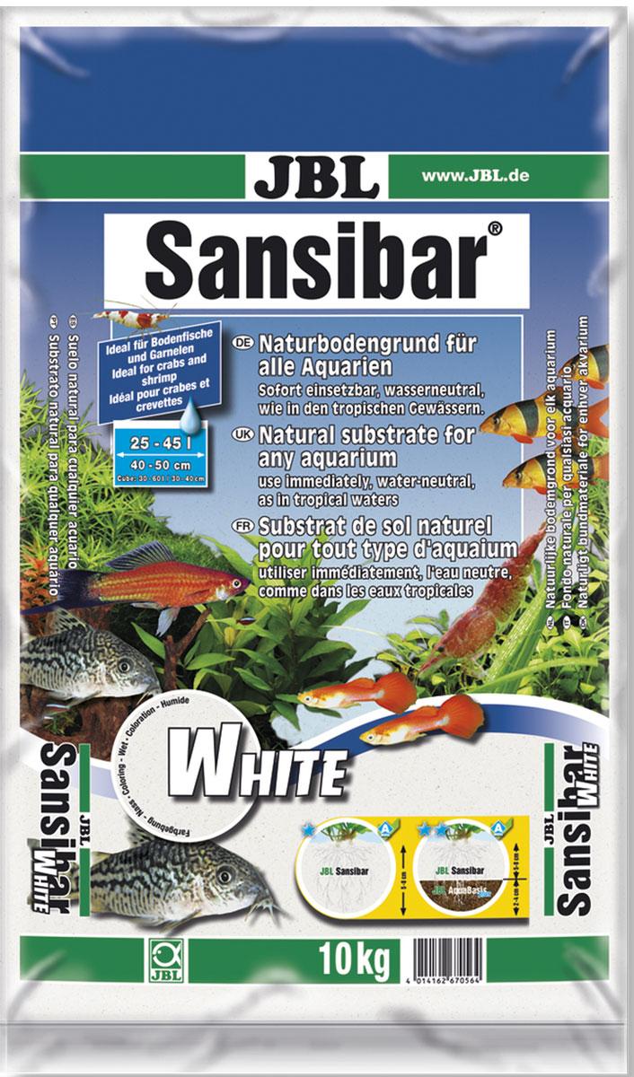 Грунт декоративный для аквариума JBL Sansibar, мелкий, цвет: белый, 10 кг гарнитура jbl e55bt белый jble55btwht