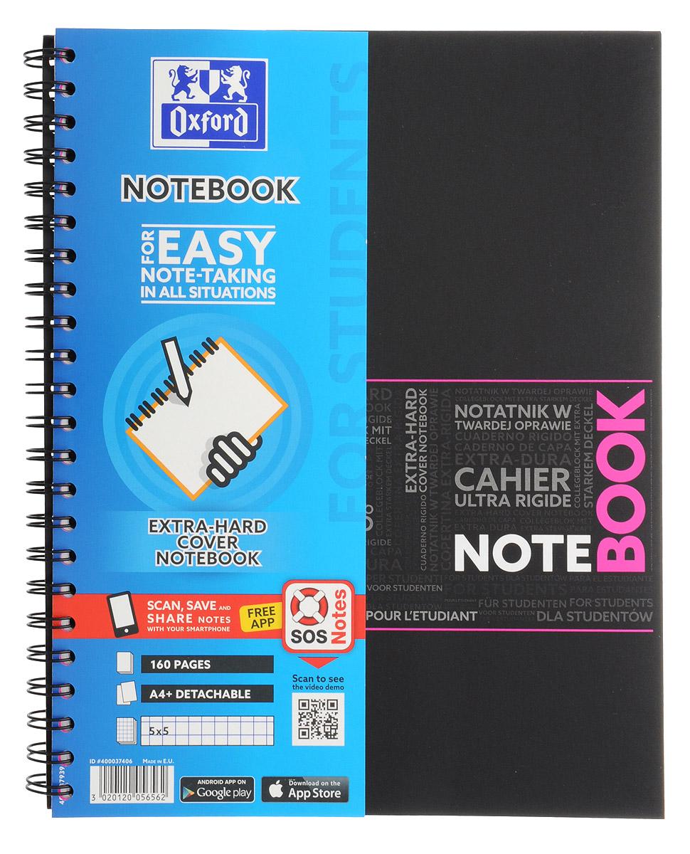 Oxford Тетрадь Sos Notes 80 листов в клетку цвет розовый02755/388558Красивая и практичная тетрадь Oxford Sos Notes отлично подойдет для ведения и хранения заметок. Тетрадь формата А4+ состоит из 80 белых листов с полями и с четкой яркой линовкой в клетку. Обложка тетради выполнена из жесткого ламинированного картона розового и черного цветов. Все ваши записи и заметки всегда будут в безопасности, так как листы крепятся на двойную металлическую спираль. Благодаря специальным меткам на каждой странице и бесплатному приложению SOS Notes для вашего телефона или планшета, вы сможете легко перенести ваши записи и зарисовки с бумажной страницы в смартфон или на компьютер.
