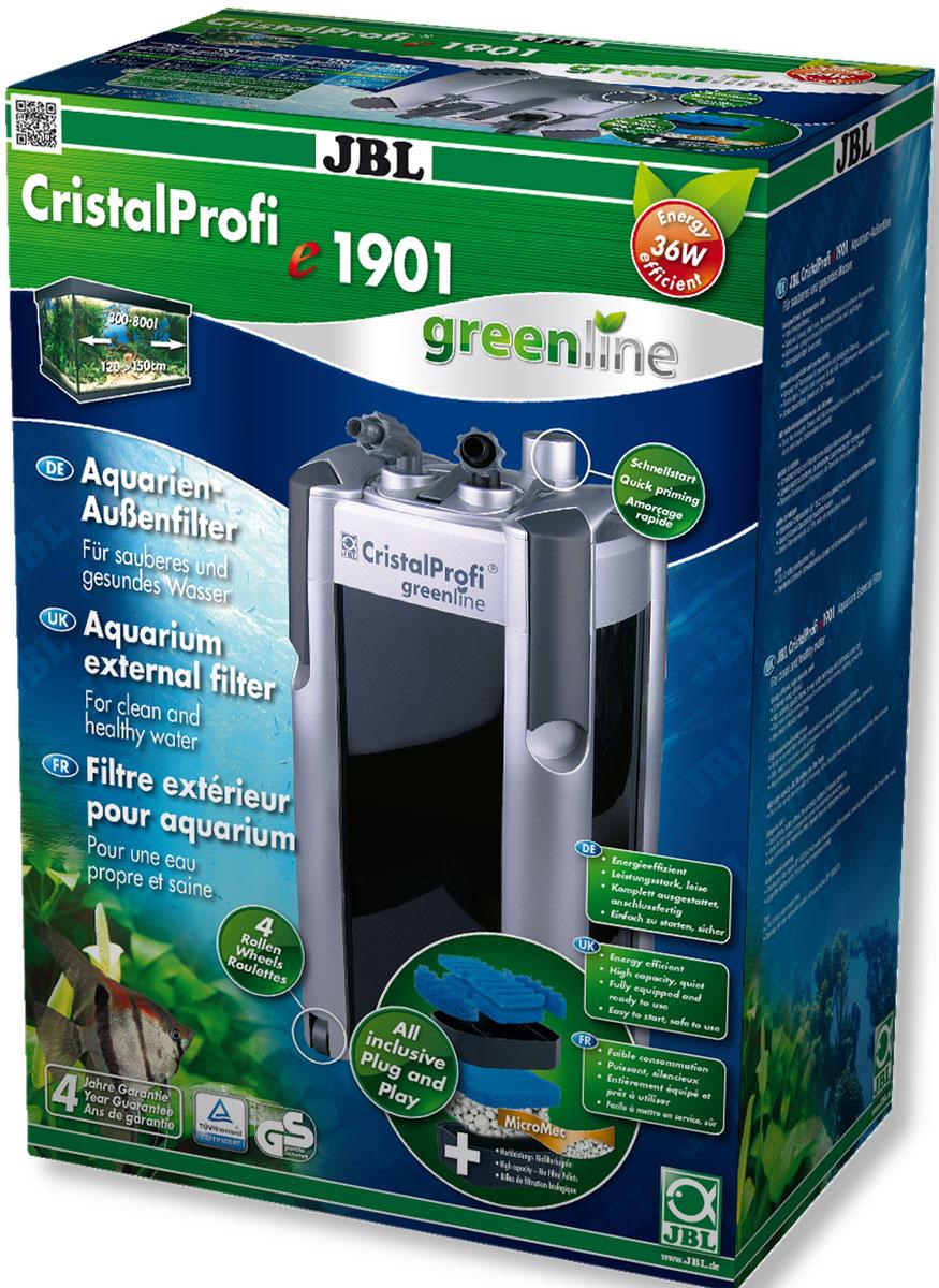 Фильтр внешний JBL  CristalProfi e1901 greenline , для аквариума 200-800 л, 1900 л/ч - Аксессуары для аквариумов