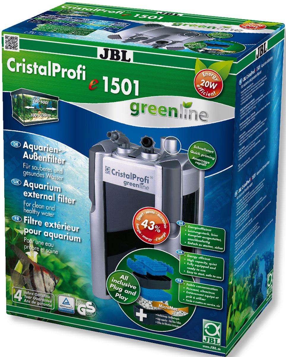 Фильтр внешний JBL CristalProfi e1501 greenline, для аквариума 200-700 л, 1400 л/ч12171996Внешний аквариумный фильтр JBL CristalProfi e1501 greenline - это экономичный и в то же время мощный фильтр для чистой и здоровой воды в аквариуме. Большой объем и различные слои фильтрации обеспечивают высокую биологическую производительность фильтра. Шарики биофильтра имеют различный диаметр, что способствует эффекту самоочищения. Фильтр предназначен для аквариумов объемом 200-700 л (длина 100-150 см). Потребляемая мощность всего 20 Вт обеспечивает экономию энергии. Запатентованный блок присоединения шлангов с предохранительным клапаном предотвращает утечку воды при отключении фильтра. Фильтр полностью оборудован и готов к подключению: встроенная система быстрого запуска означает запуск фильтра без всасывания воды. Простая сборка. Фильтрующий материал также в комплекте. Тихая работа при мощности насоса 1400 л/ч. Запатентованный префильтр: высокая производительность биологической фильтрации при объеме 12 л, краны, соединители шланга с поворотом на 360°, простая замена фильтрующих материалов. Остатки растений, корма и продукты обмена веществ ухудшают качество воды в аквариуме. Хорошее качество воды необходимо для укрепления здоровья рыб и растений. Этого можно достичь с помощью аквариумного фильтра. Фильтр забирает воду из аквариума и устраняет грязь и отходы из воды. Фильтры также предоставляют бактериям, разлагающим загрязняющие вещества, идеальную среду обитания. В комплекте: внешний фильтр, в том числе шланги, трубки 12/16, защитная решетка, уголки, присоски, фильтрующие материалы (шарики и губка биофильтрации).
