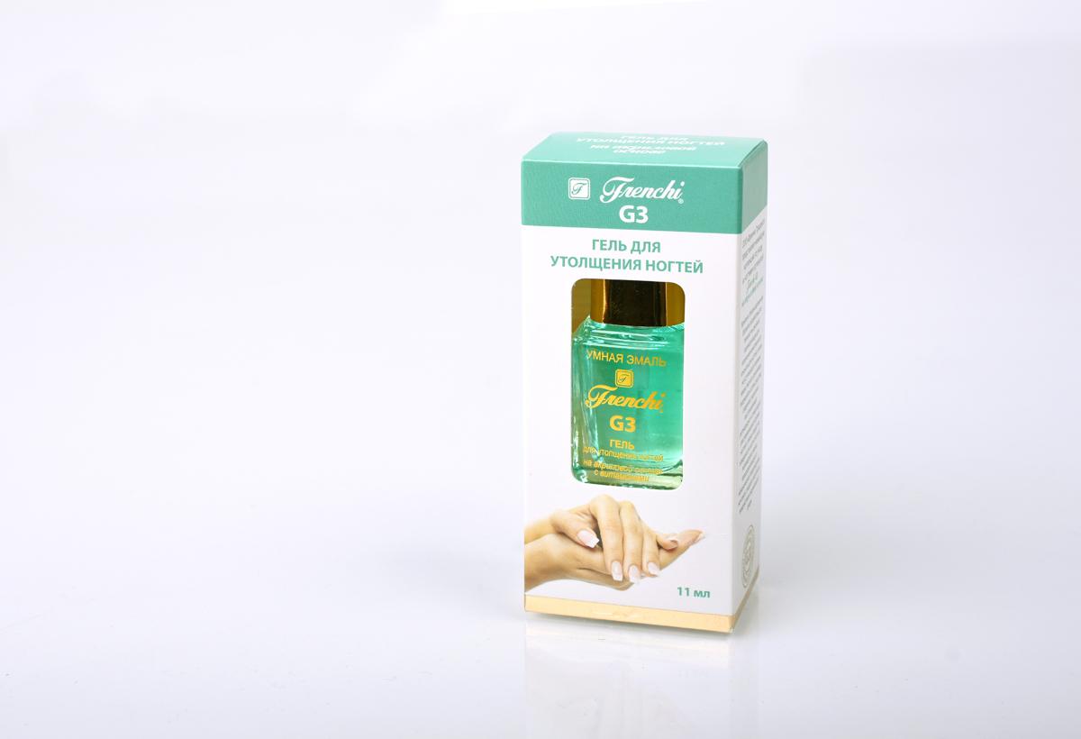 Frenchi G3 Гель для утолщения ногтей на акриловой основе, 11 млSC-FM20104Гель для утолщения ногтей Frenchi G3 на акриловой основе с витаминами - уникальное средство укрепляющее слабые, хрупкие, склонные к ломкости и расслоению ногти, образуя на их поверхности прочную полимерно-защитную гелевую пленку, которая заполняет все неровности ногтевой пластины. В научно разработанной формуле важную роль играют морская соль, экстракт морских водорослей, а также минеральный комплекс, способствующие укреплению ногтевой пластины. Препарат содержит большое количество минералов и микроэлементов, витаминов и аминокислот, активизирующих клетки ногтевого ложе, восстанавливая естественную толщину ногтевой пластины, делают её более упругой и крепкой. Через несколько недель применения средства, Ваши ногти станут крепкими, эластичными и здоровыми.