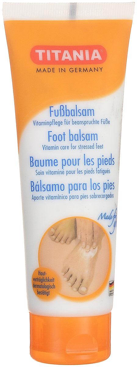 Titania Бальзам для ног, 75 мл72523WDКрем бальзам по уходу за кожей ступней ног Titania, для профессионального и домашнего использования, рекомендуется применять как средство для ухода за кожей ступней ног, подвергшейся негативному воздействию новой обуви. Его применение обеспечит не только уменьшение уже существующих мозолей, но и предотвратит появление волдырей и новых огрубелостей в местах сдавливания. Входящие в состав бальзама витаминные комплексы, ценные масла и дезодоранты обеспечат мягкое восстанавливающее и защитное действие на кожу ступней ног.