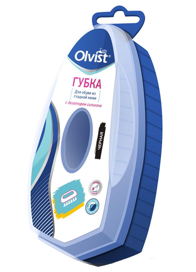 Губка для обуви с дозатором Olvist, цвет: черный. QSN-01 губка для обуви kiwi express shine с дозатором цвет прозрачный 7 мл