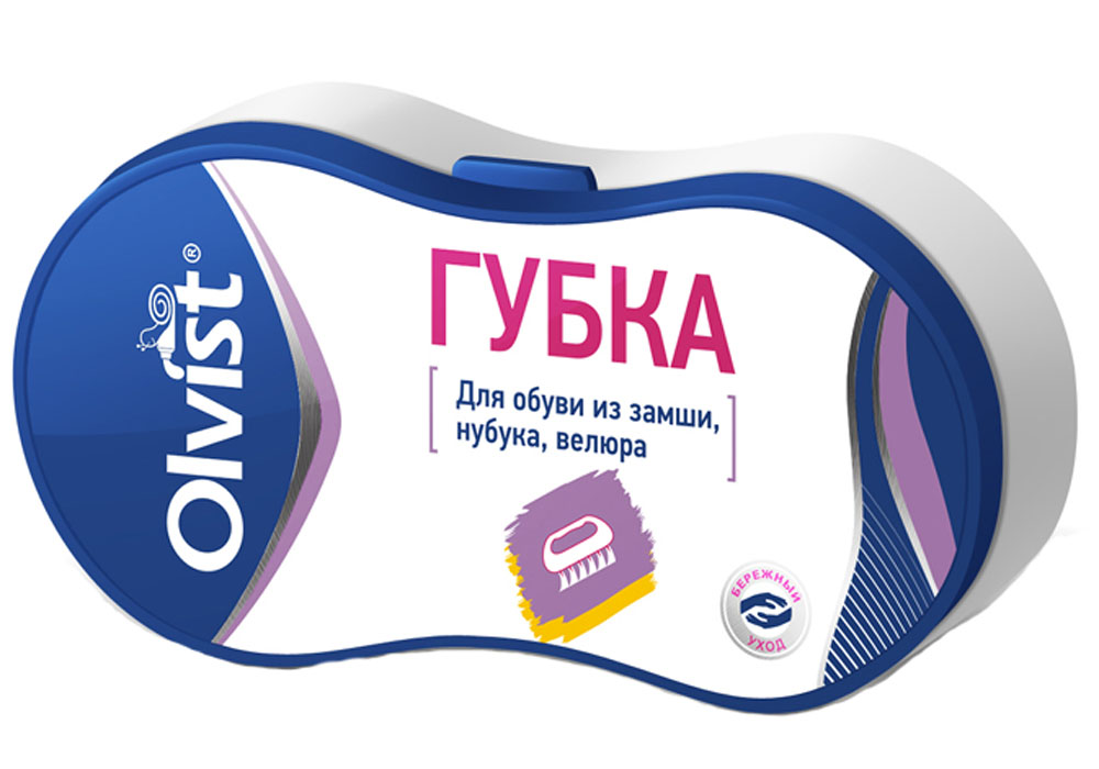 Губка для обуви Olvist, для замши, нубука, велюра. 9066E-82173Губка для обуви Olvist эффективно удаляет загрязнения и возвращает бархатистость. Подходит для замши, нубука, велюра.